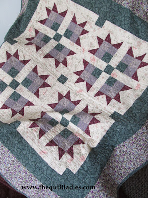 Purple and Green Lap Quilt