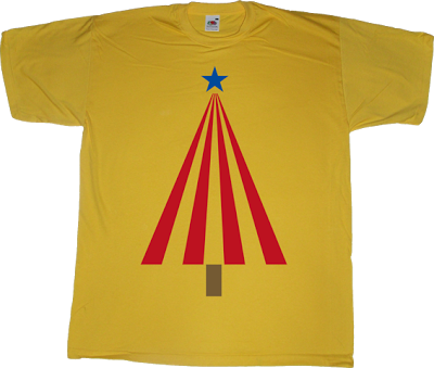 christmas tree catalonia catalan independence freedom t-shirt ephemeral-t-shirts  jaume creixell APM? Alguna Pregunta Més? fun