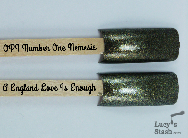 Lucy's Stash - A England Love Is Enough vs OPI Number One Nemesis