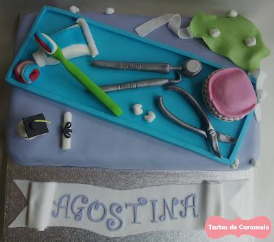Tarta de Graduación del Dentista: vista aerea