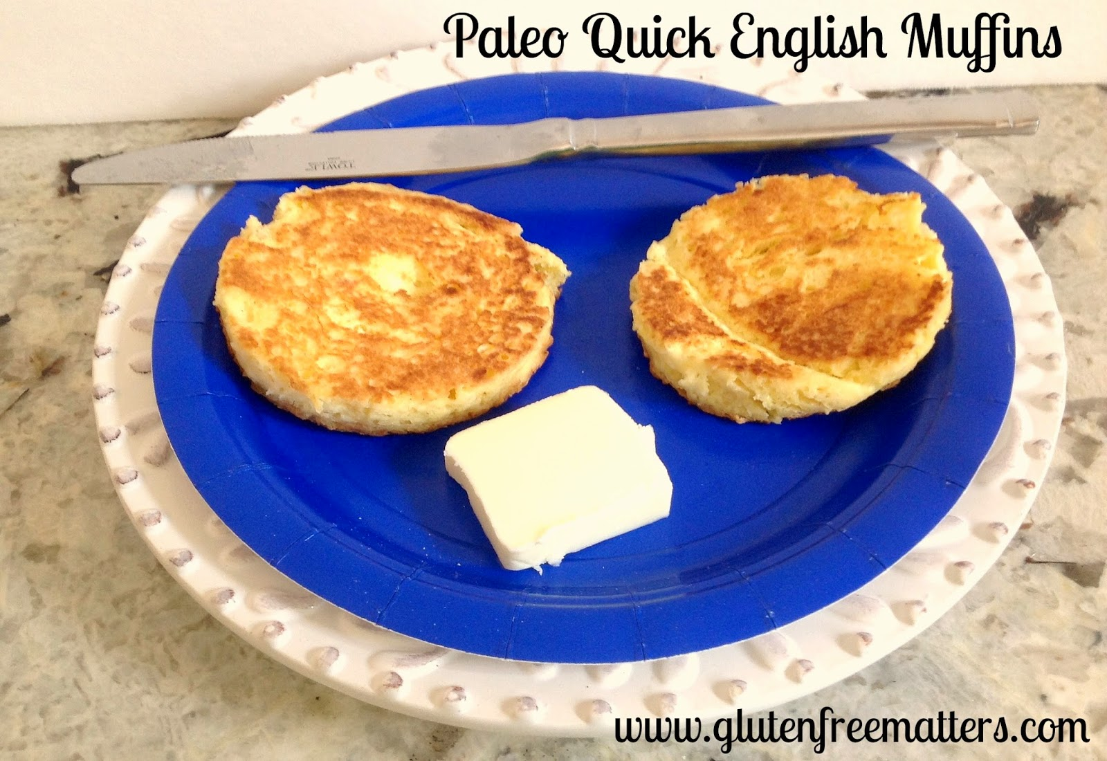 Grain Free English Muffins on a plate