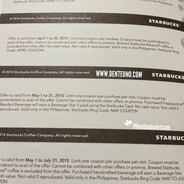 2015 Starbucks Promo for May