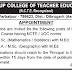 Teaching Jobs in Namrup College of Teacher Education, Dibrugarh, Assam, 2015