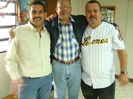 Reunion del Alcalde Malavé el Alcalde Victor J. Gonzales y el Gerente de Corpoelec Orestes Morao