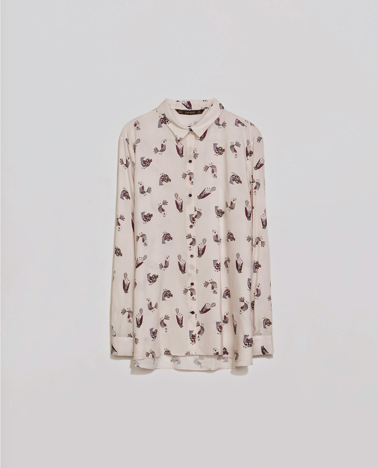 bird print shirt zara