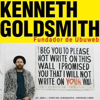 El fundador de UbuWeb -Kenneth Goldsmith- imparte conferencia en el Museo del Chopo