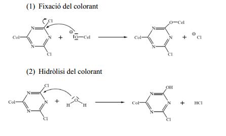 teñido de algodón con colorantes reactivos química textil