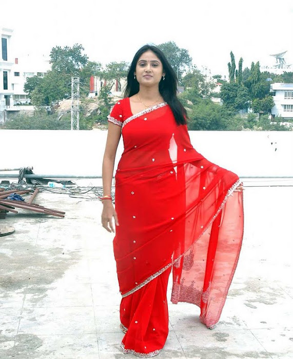 sony charishta red saree hot photoshoot