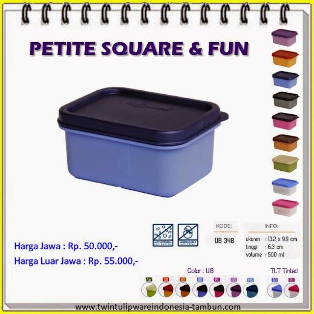 petite square & fun tulipware 2013