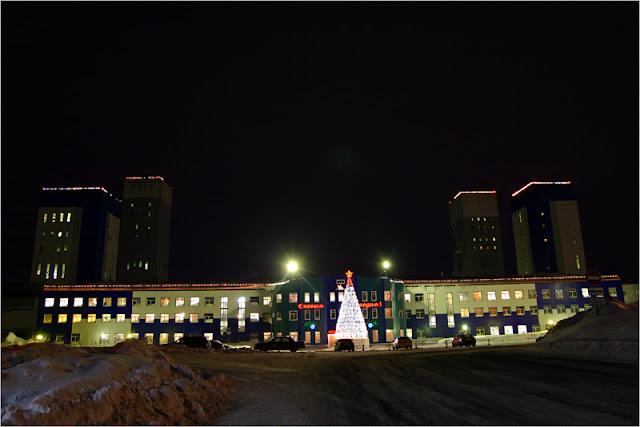 город Норильск, фото, район Талнах, рудник «Октябрьский»
