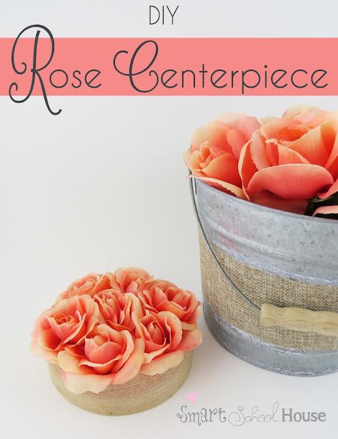 DIY Rosa Centro de Mesa