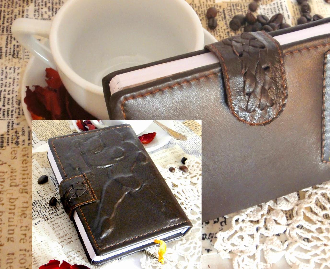 Карманный ежедневник А6 из кожи Знаки Зодиака Водолей