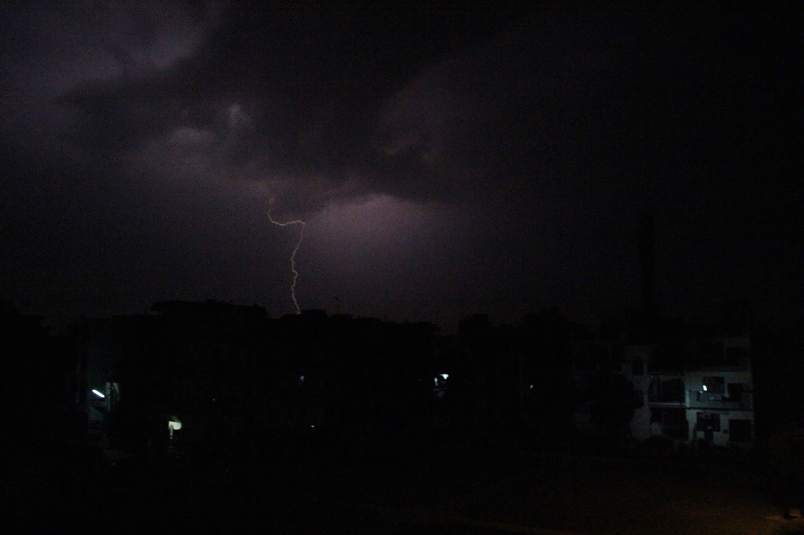 Early morning lightening