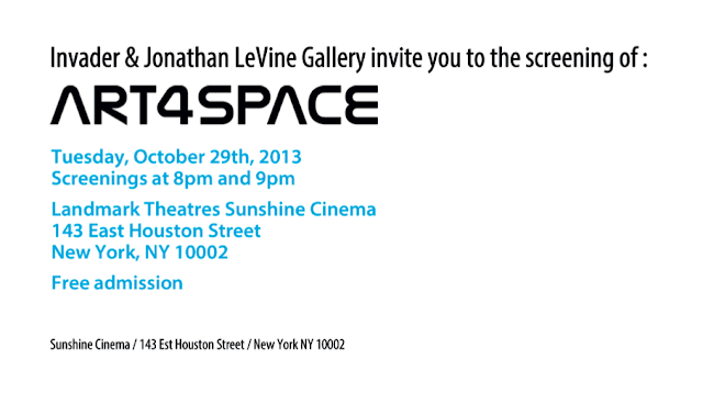 """Art4Space"" New York City Movie Premiere - A film by Invader."