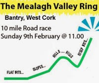 Challenging 10 mile race in scenic West Cork