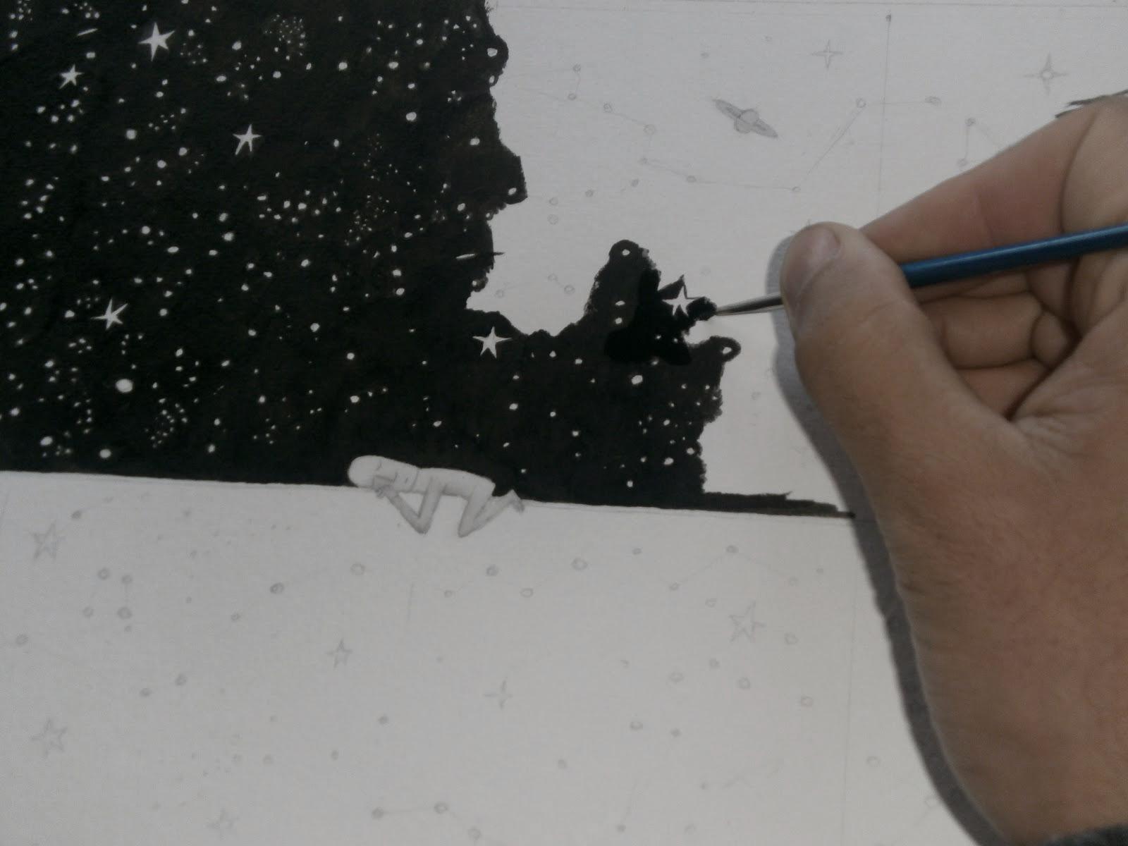 """Proceso de tapa """"Dibujos invisibles"""""""