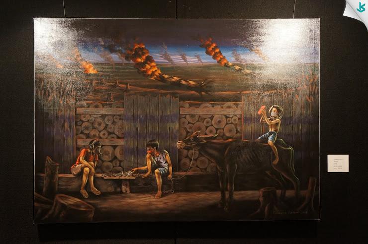Gambar Pameran Lukisan - Lukisan Polusi