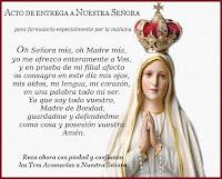 Acto de entrega a Nuestra Señora