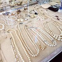 vintage necklaces, vintage pearl necklaces, Cleveland Street Flea Market