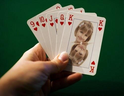 montagem de fotos jogo de cartas