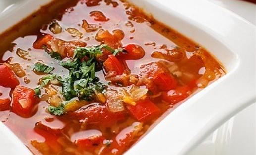 Томатный суп - пюре с овощами