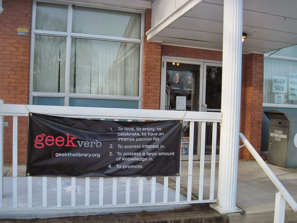 Hancock Library - Geek verb banner