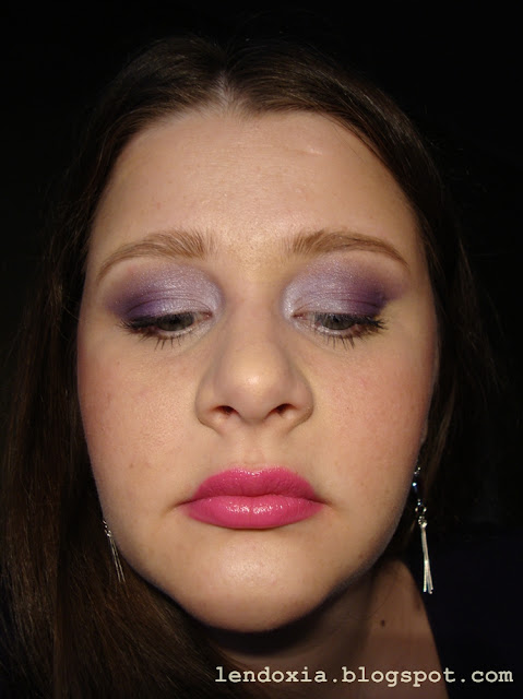 my purple make up look
