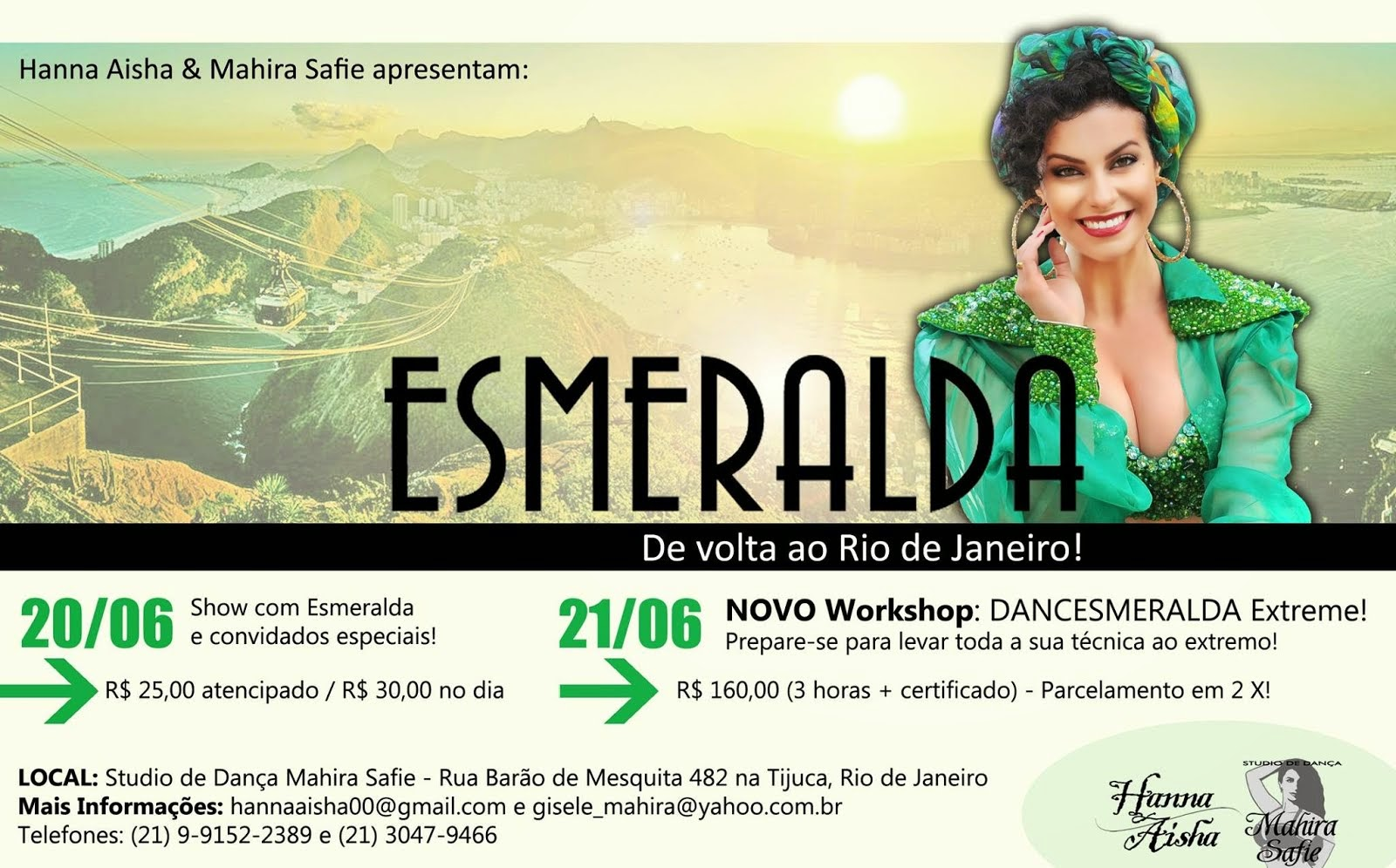 Esmeralda de volta ao RJ!