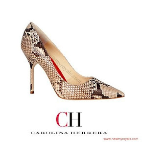 Queen Letizia Style Carolina Herrera python pumps
