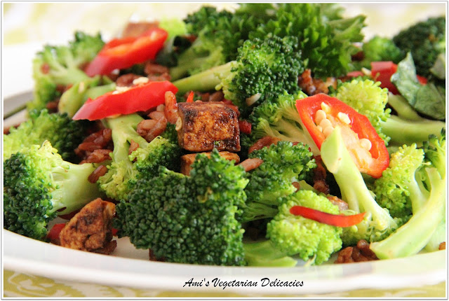 Ami's Vegetarian Delicacies: Broccoli and Tofu Stir-fry with Thai Red ...