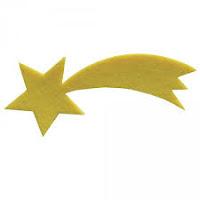 Creare segna posti con pasta di sale utili per feste e compleanni: la cometa, il cuoricino e la bandierina