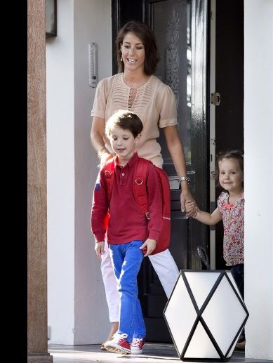 Prince Joachim, Princess Marie and Princess Athena and Prince Henrik