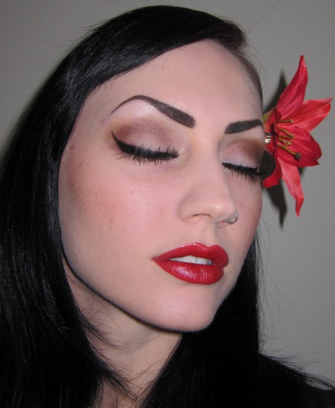 Glitter is my crack...: Classic Pin up Makeup look with ...