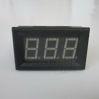 Voltmeter Digital LED Biru