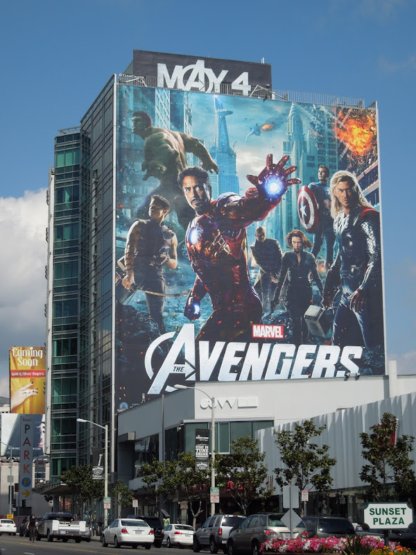 Giant Avengers billboard Sunset Strip