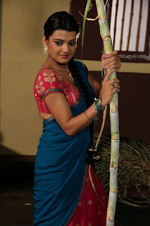tashu koushik  Pictures in half saree 004.jpg