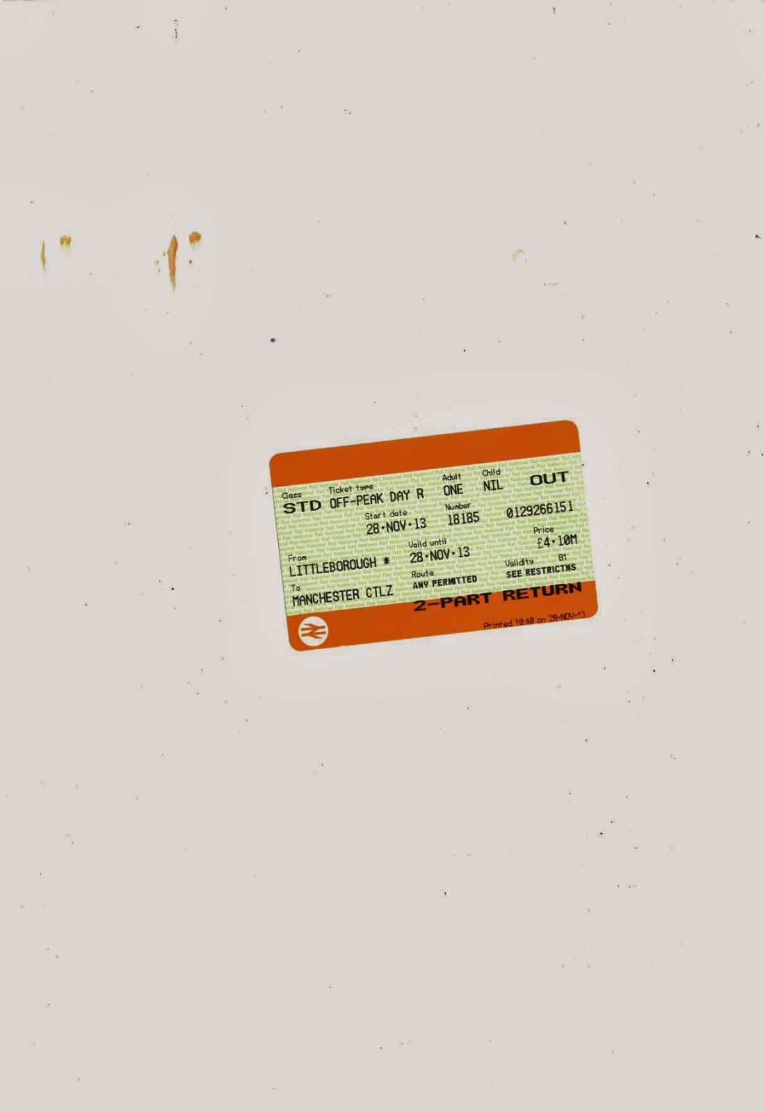 Details, exploring city, close up photography, manchester, urbex, ephemera, urban narrative, train ticket