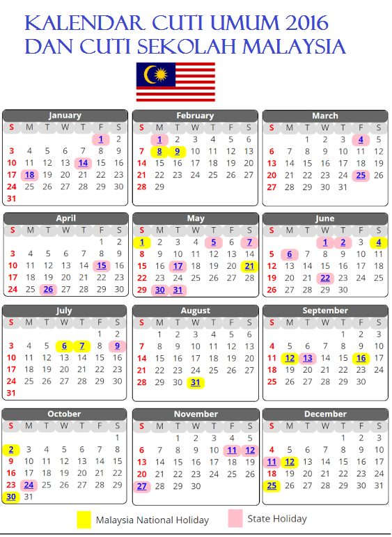 Kalendar 2017 Malaysia Related Keywords & Suggestions - Kalendar 2017 ...