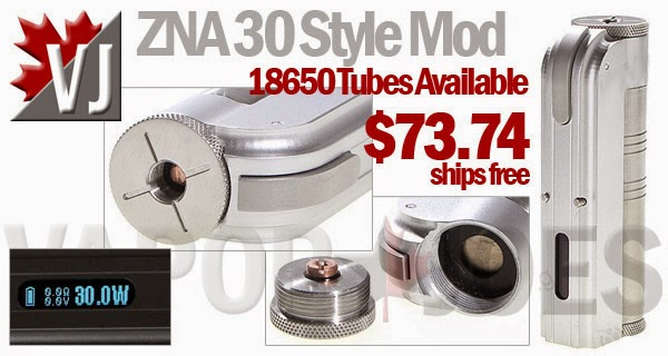ZNA Styled 7-30 Watt 18500 Mod -18650 Tubes Available Now!!
