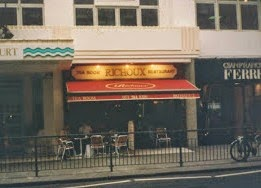 Tea at Richoux Tea House in London England 1997