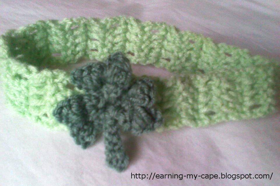 Earning My Cape Crochet Clover Headband Free Pattern