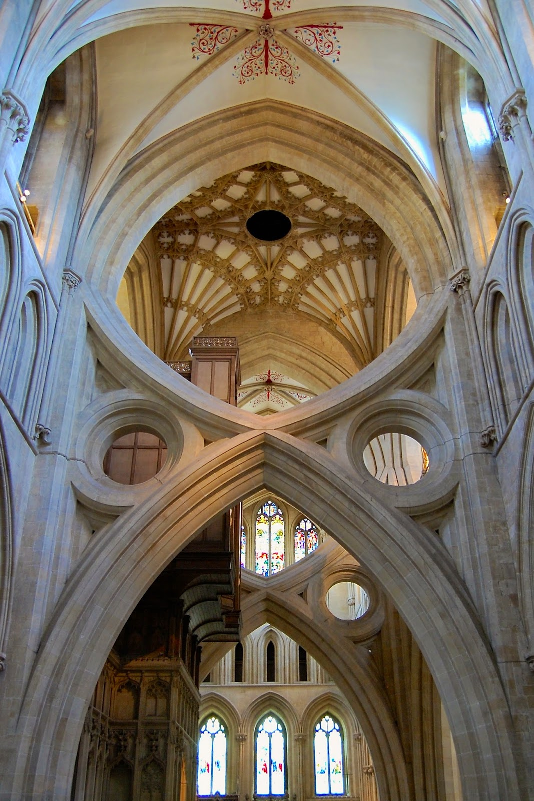 Scissor arches in Wells Cathedral