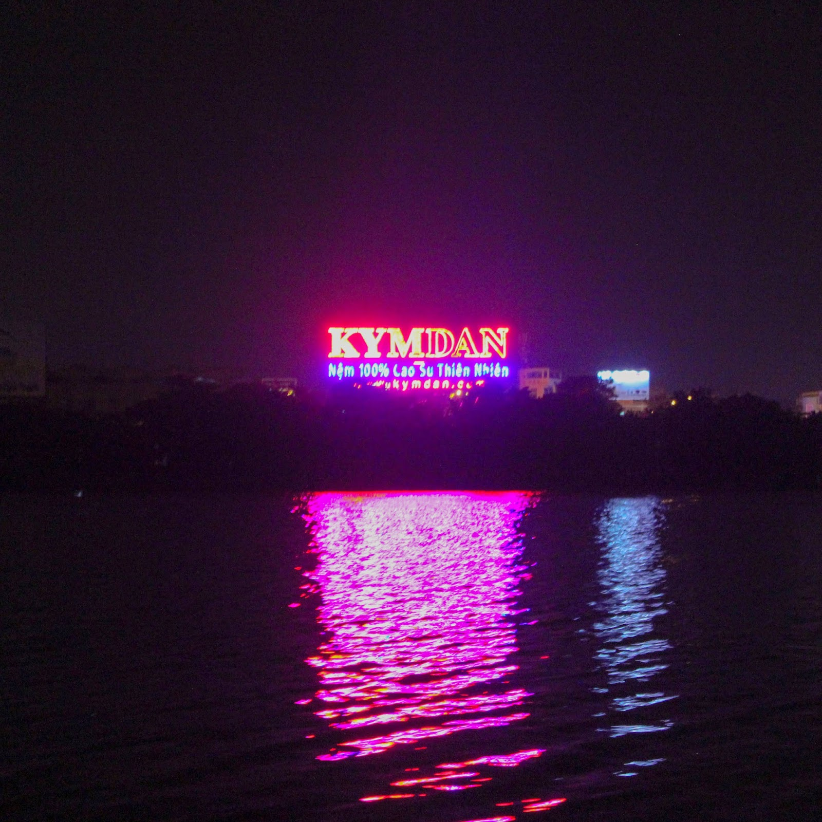 by night a far more noticeable presence along the banks of the river are the monuments to vietnam s contemporary rulers namely mammon whose neon altars