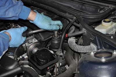 Filtro BMW 320d E46 cambio aceite motor