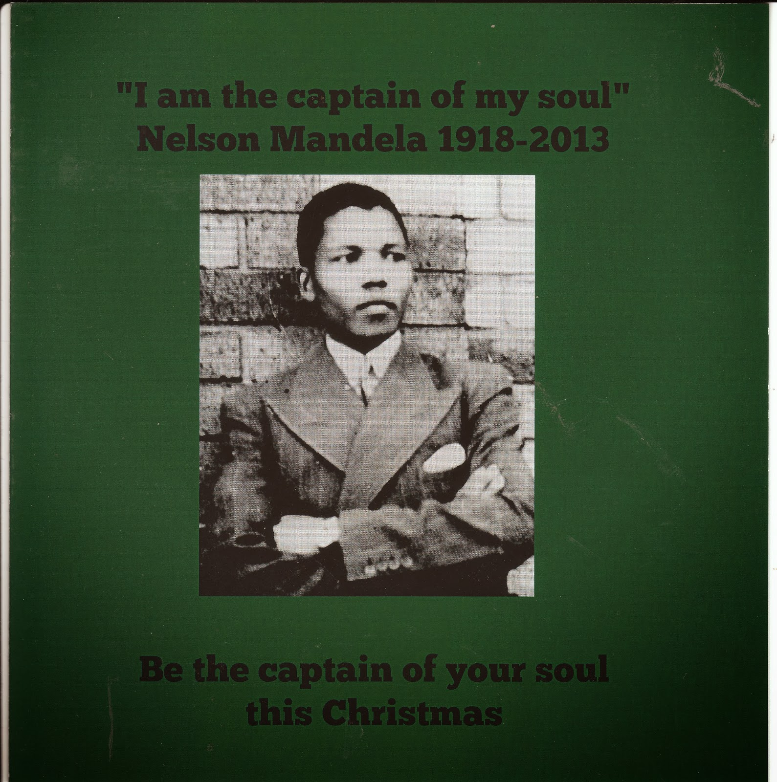Indygal In Europe Nelson Mandela Inspirational Christmas Card
