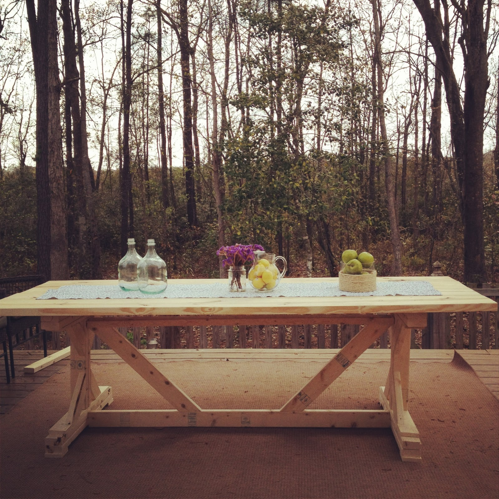Old glass bottle fancy farmhouse table diy for Fancy farmhouse