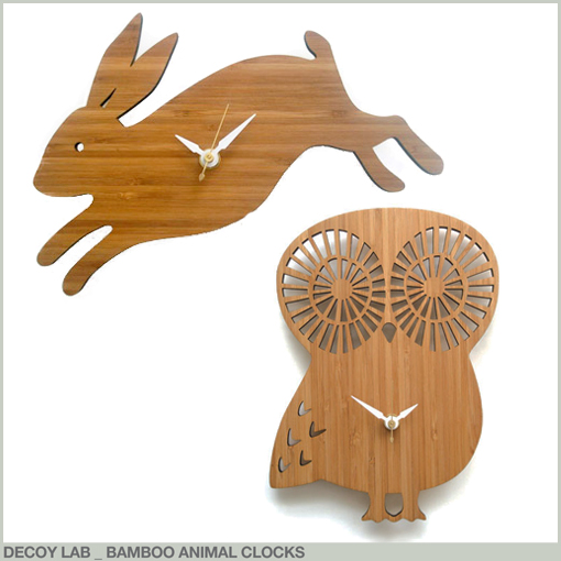 DECOY LAB - BAMBOO ANIMAL CLOCKS
