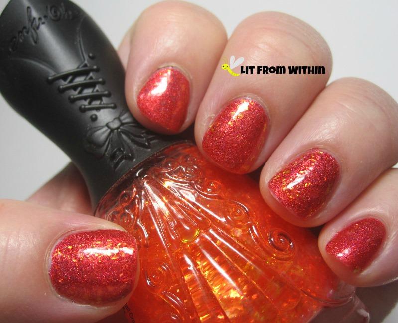 Nfu-Oh 44, a gorgeous orange base with golden orange flakies