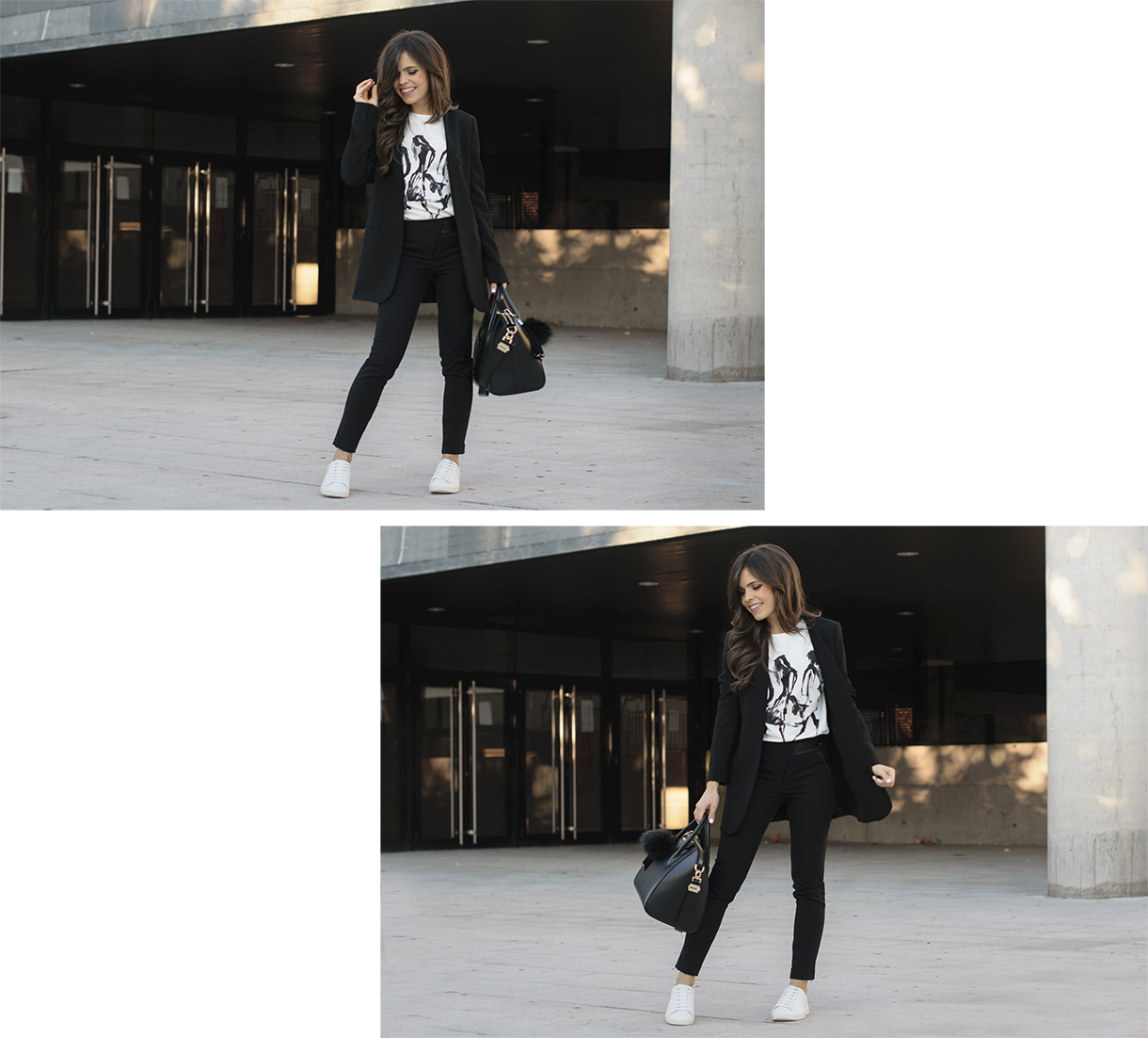 look sporty chic con sneakers