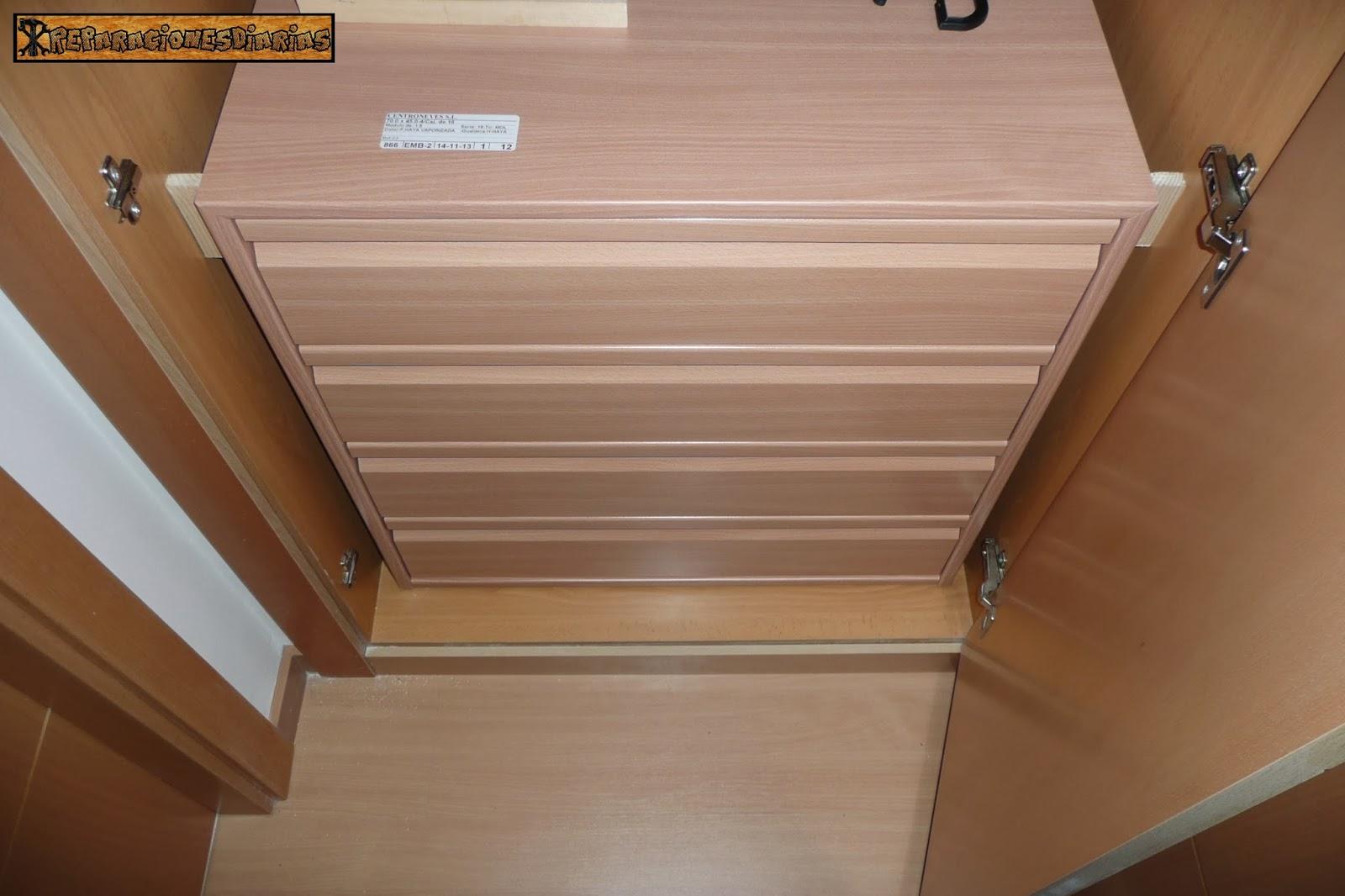 Reparacionesdiarias instalar unas cajoneras en los armarios - Cajoneras para armario ...